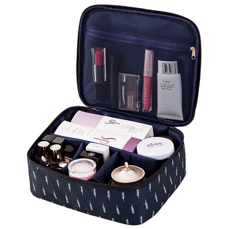 Travel Fashion Lady Cosmetics Cosmetic Bag Beautician Storage Bags Large Capacity Women Makeup Bag B Feather