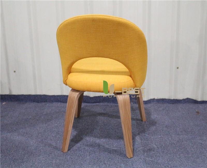 Saarinen Executive mid century side dining chair with wood leg (4)