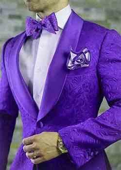 Chaqueta Morada Para Hombre   Padrino Púrpura Patrón Novio Esmoquin Chal Satén Solapa Hombres Trajes 2 Piezas Boda Mejor Hombre Blazer (chaqueta + Pantalones + Corbata) C591