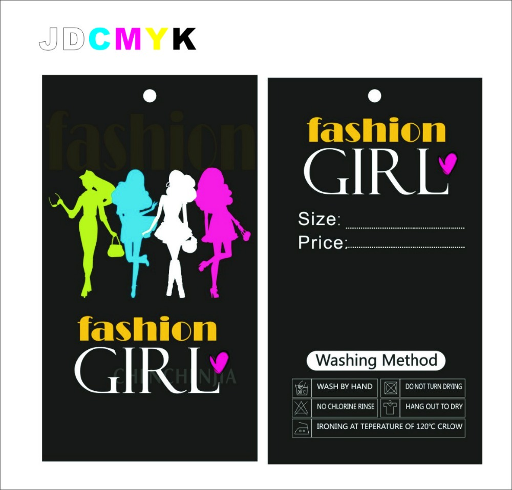 Customized Logo  For Clothing Price Hang Tags,custom Print 300gsm Paper Garment Luggage Hair Labels Tags ,free Design Shipping