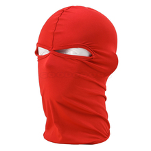 New Lycra Full Face Mask Balaclava Winter Ski Beanie Stretch Cap 2 Hole Hunting Motorcycle Bike