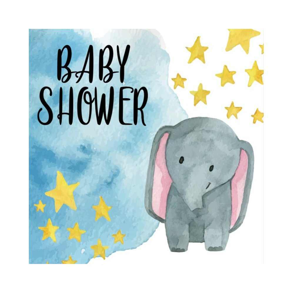 laeacco elephant baby shower