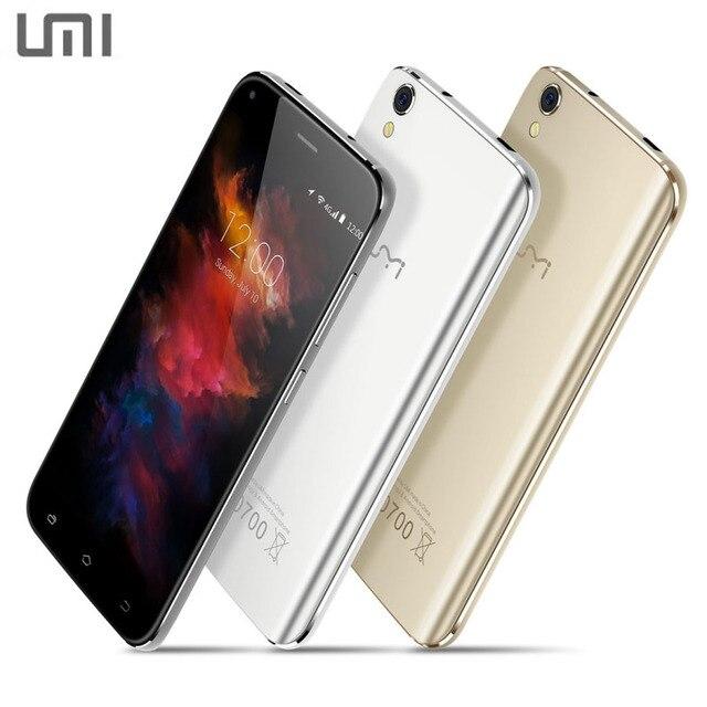 Оригинальный UMI Diamond 16 ГБ + 3 ГБ Сети 4 Г 5.0 дюймов 2.5D Дуги Android 6.0 MTK6753 Octa Ядро до 1.5 ГГц Сотовые Телефоны Wi-Fi BT OTG