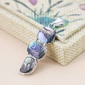 15x39mm Accessories Series prevalent  3 layer Natural Abalone seashells sea shells pendants Ethnic Chic abalone geometry jewelry