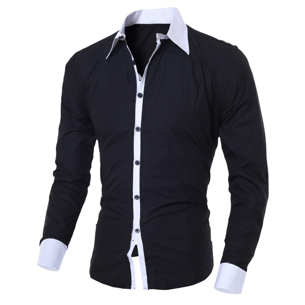 Fashion Men's Shirt Camisa Blusa Masculina Casual Slim Long-sleeved Shirt Men Causal Male Blouse Top Streetwear Camisa Masculina
