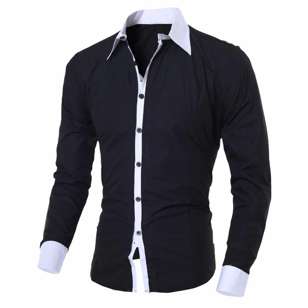 Fashion Men's Shirt Camisa blusa masculina Casual Slim Long-sleeved Shirt men Causal Male Blouse Top Streetwear Camisa masculina