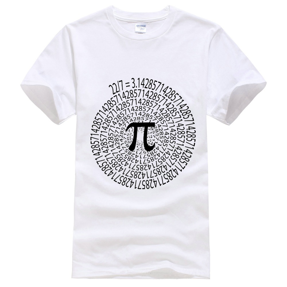 Newest 2017 T Shirt Fashion MenS Short Sleeve Zomer O-Neck Pi Approximation Day Stem Math Science Nerd Spiral T Shirts
