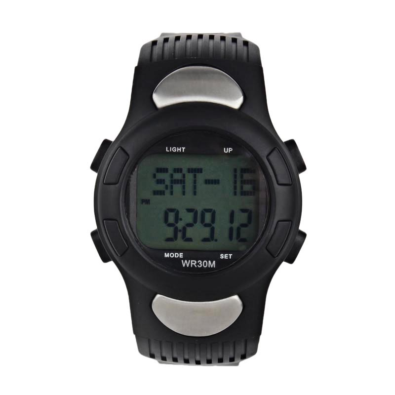 Unisex Watch Sport Waterproof Fitness -50 Pedometer Monitor Calories-Counter Pulse-Heart-Rate