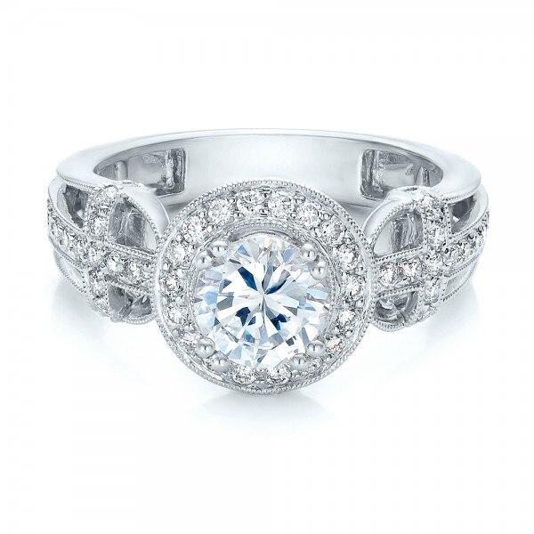 Halo 1CT Esdomera Moissanites Solid 9k Gold Jewelry White Gold Engagement Diamond Wedding Ring Color F Lab Grown Diamond