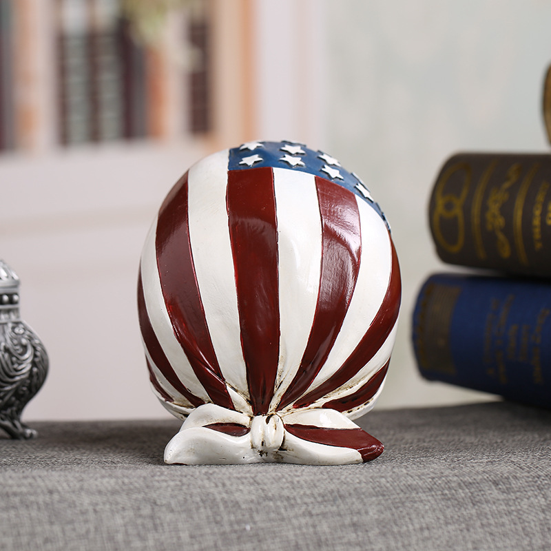 c9b3d5172f3 MRZOOT Resin Craft Home Decorations Skeleton Skull American Flag  Personalized Ornaments Fashion Decor -in Statues   Sculptures from Home    Garden on ...