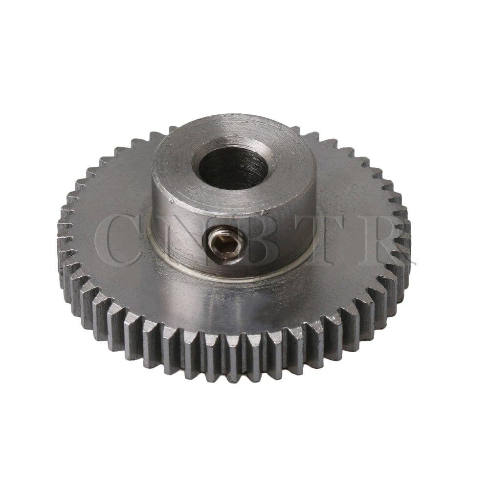 CNBTR 26x10mm 0.5 Modulus 45# Steel 50 Teeth Spur Gear Motor Pinion Gear Shaft for DIY Micro-generators все цены