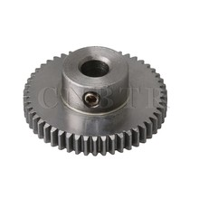 CNBTR 26x10mm 0.5 Modulus 45# Steel 50 Teeth Spur Gear Motor Pinion Gear Shaft for DIY Micro-generators