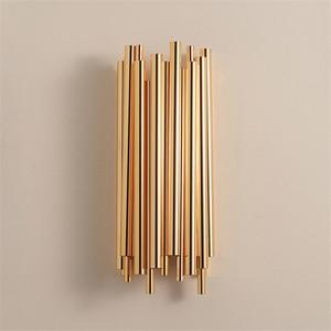Image 1 - Moderne Kreative Individualität Metall Wand Licht Retro Gold Wohnzimmer Schlafzimmer Küche Gang Dekoration Wand Leuchte Beleuchtung