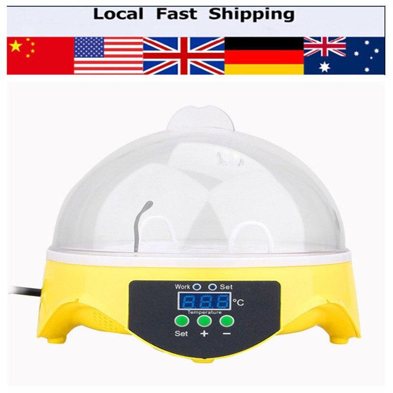 7 Eggs Capacity Chicken Incubator Tool Kit Home Mini Digital Duck Bird Incubators  цены