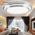Estilo agradável moderno teto interior lâmpada led prata de camada dupla luz de teto para sala de estar/quarto/sala de comer