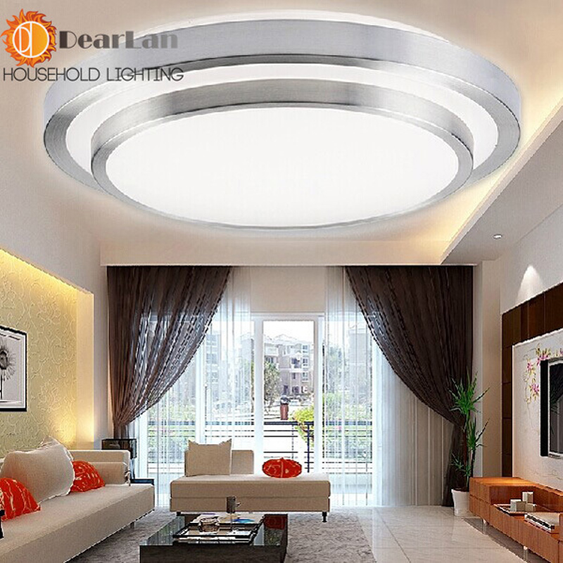 ФОТО Modern Nice Indoor Ceiling Style Lamp LED Double Layer Silver Ceiling Light For Living Room/Bedroom/Eating Room
