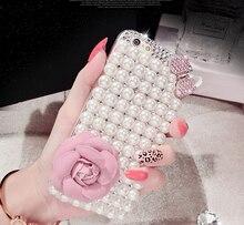 Роскошные 3D жемчуг розовый лук цветок жесткий чехол для LG G3 G4 G5 K10 K8 чехол для Huawei P8 Lite P9/lite Y5 II Y3 II Коврики 9 корпус Нова