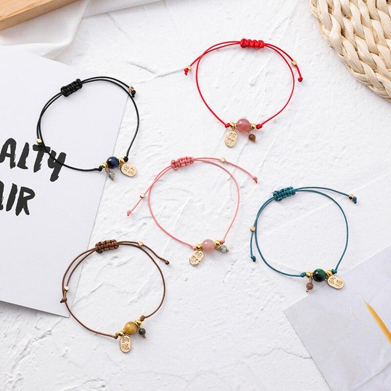 Minimalist Bead Charm Bracelets Bangles