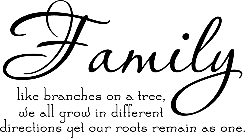 Family Tree Together Love Wall Vinyl Sticker Decal Quote Decor Cute On Wall  Decal Sticker Vinyl Wall Room Decal In Wall Stickers From Home U0026 Garden On  ...