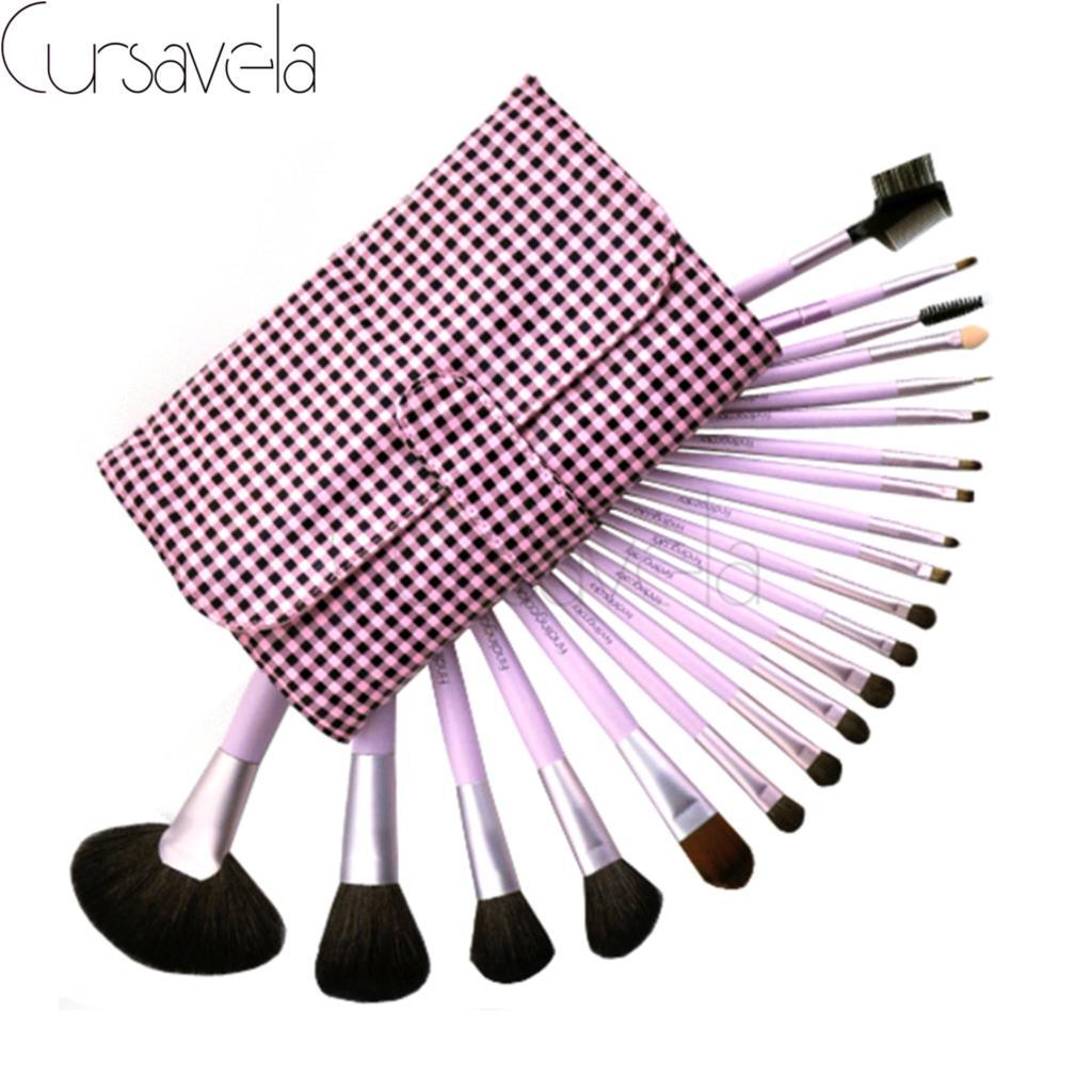 21pcs High Quality Makeup Brushes Set Pink Professional Make up Brush Fundation Eyeshadow Make up maquillage Brushes+Bag EAB032