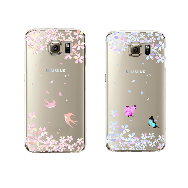 butterfly soft silicon transparent fundas capa coque for samsung galaxy j5 a3 a5 2016 s3 s4 s5. Black Bedroom Furniture Sets. Home Design Ideas