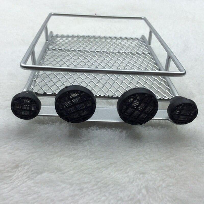 RC 1/10 Rock Crawler Car Accessories Metal Luggage Roof Rack Led Light Bar Crawlers Tamiya Axial RC4WD D Silver/Black/Red moda argenti moda argenti st 1374 s