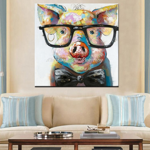 87091d5511be Online Shop Hand Painted Acrylic Canvas Oil Paintings Colorful Frog ...