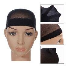 Парик шапочка сетка для волос для плетения ношения интранет унисекс черный коричневый сетка шапка бесплатно размер 2 штуки в один набор