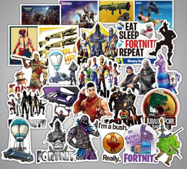 46pcs set fortress night personality stickers fortnite explosions