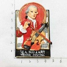 Austrian Vienna musicians Mozart tourist souvenir refrigerator stickers
