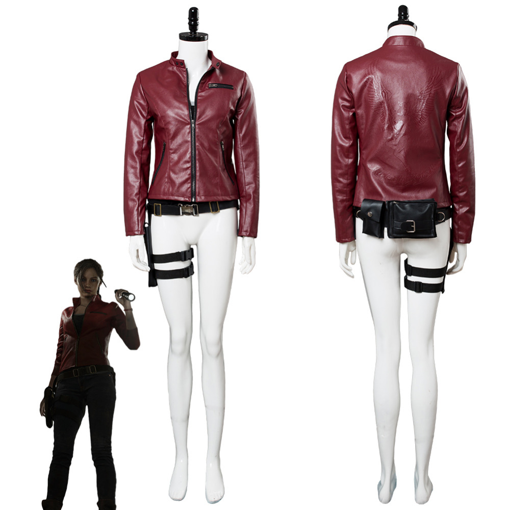 Video Game Resident Evil 2 Remake Claire Redfield Jacket Cosplay Costume Outfit Halloween Carnival Costumes Custom Made