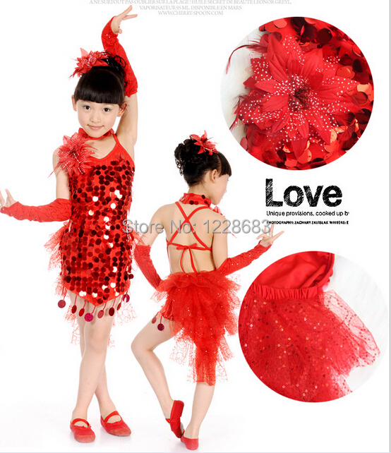 1957953c88749 New Discount Sequin Cocktail Child Kids Girls Ballroom Tango dress Clothes  Cheap Latin Dance Dresses For Sale-in Latin from Novelty & Special Use on  ...