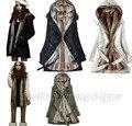 Pele Hoodies Das Senhoras das mulheres Inverno Quente Roupas Casaco Longo casaco Atacado Fábrica S-XXXL (2013-0195) Na Venda