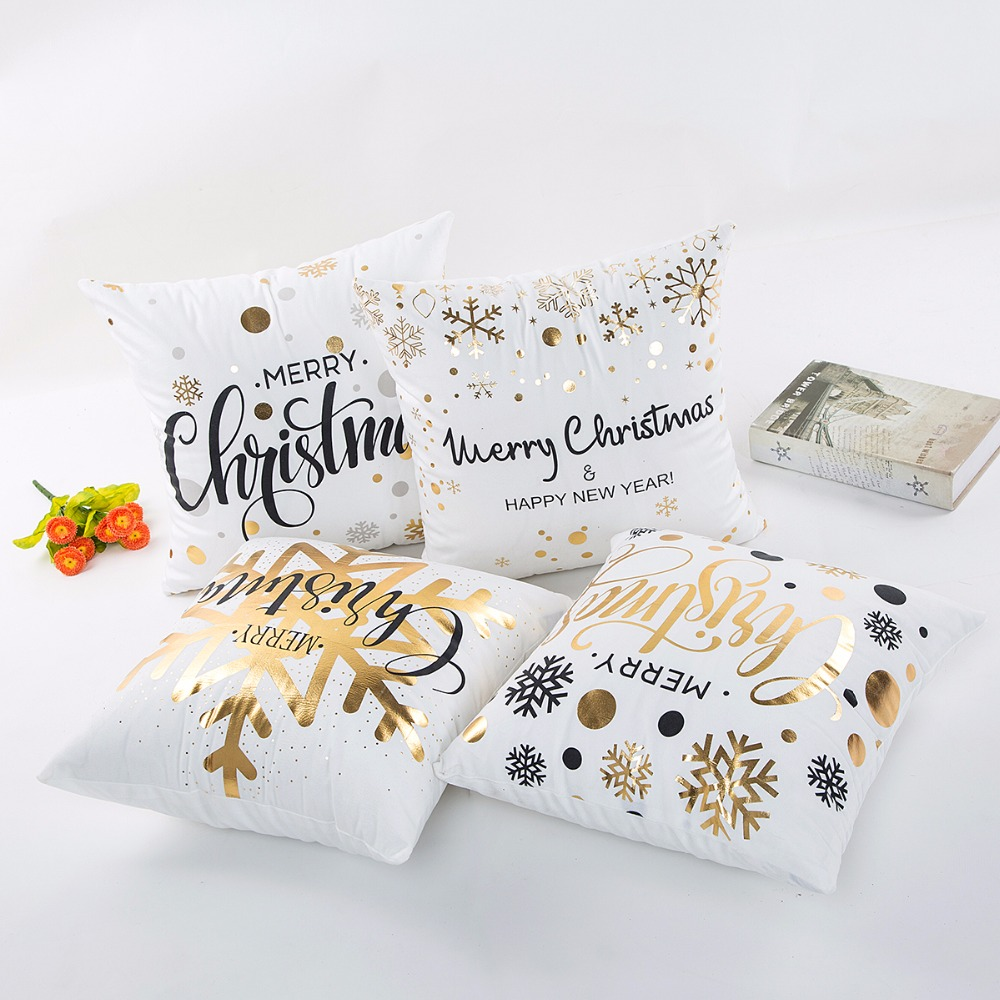 Großhandel Hohe Qualität Abstrakte Malerei Frohe Weihnachten Frohes Neues Jahr Kissenbezug Hause Dekokissen Fall Stuhl Sitzbezüge