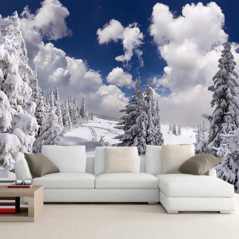 Online get cheap wallpapers winter for Winter wall murals