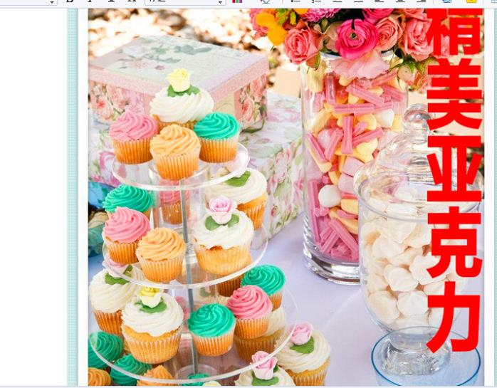 4 niveaux de cadre acrylique dessert plateau gâteau stand doux nouvelle décoration mariage fête d'anniversaire fournitures acrylique cupcake stand