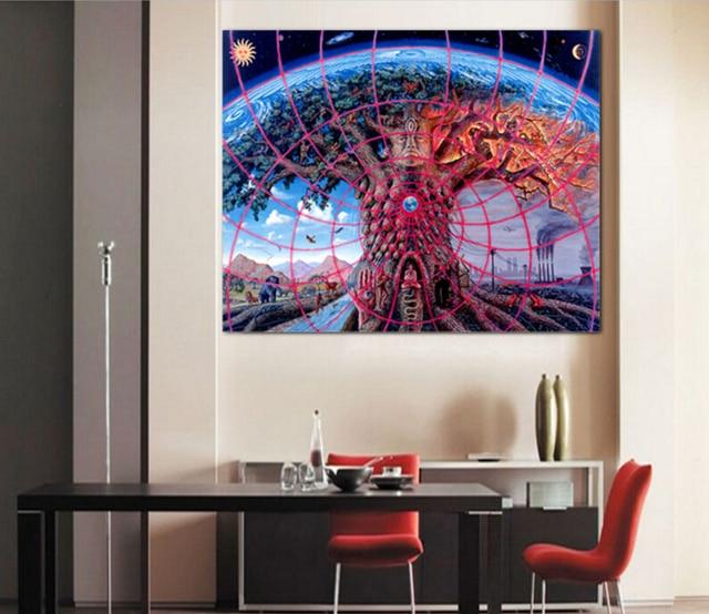 Moderne Wandkunst Trippy Alex Grau Malerei Auf Leinwand Leinwand Malerei  Bilder Decor Für Wohnzimmer