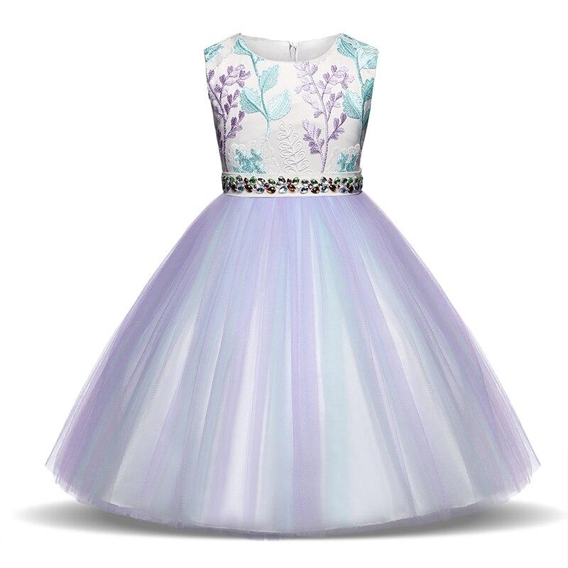 Apliques Vestidos De Niña 2018 Verano Vestido Elegante Para