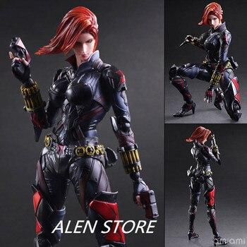 ALEN Black Widow 27cm 1pcs PVC Figures Play Arts Kai The Avenger Marvel Action Anime Figures Kids Gifts Toys