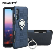 FULAIKATE Ice Cubes Ring Case for Huawei P20 Anti-knock Stand Back Cover Business Soft Phone Protective Cases