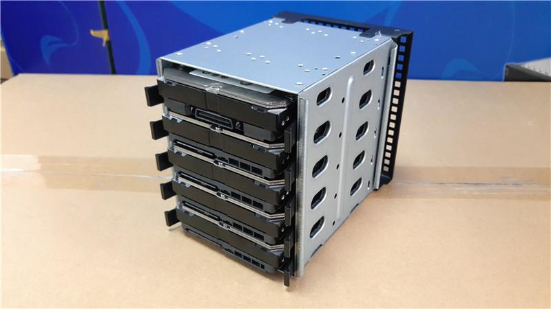 """Prix pour 5.25 """"à 3.5"""" SATA SAS HDD Disque Dur Adaptateur de Cage Plateau Caddy Rack Support Pour 3x5.25 """"CD-ROM Slot Interne ou Externe PC DIY"""