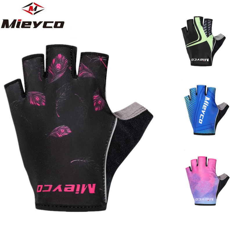 Red BOODUN Sports Cycling Gloves Half Finger Bike Bicycle Shockproof Glove S-2XL