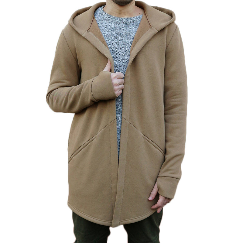 HTB1RNY9XZfrK1Rjy1Xdq6yemFXay Winter Autumn Stylish Men Long Casual Hooded Trench Coat Male Loose Hoody Cardigan Jacket Outerwear Overcoat Plus Size 3XL
