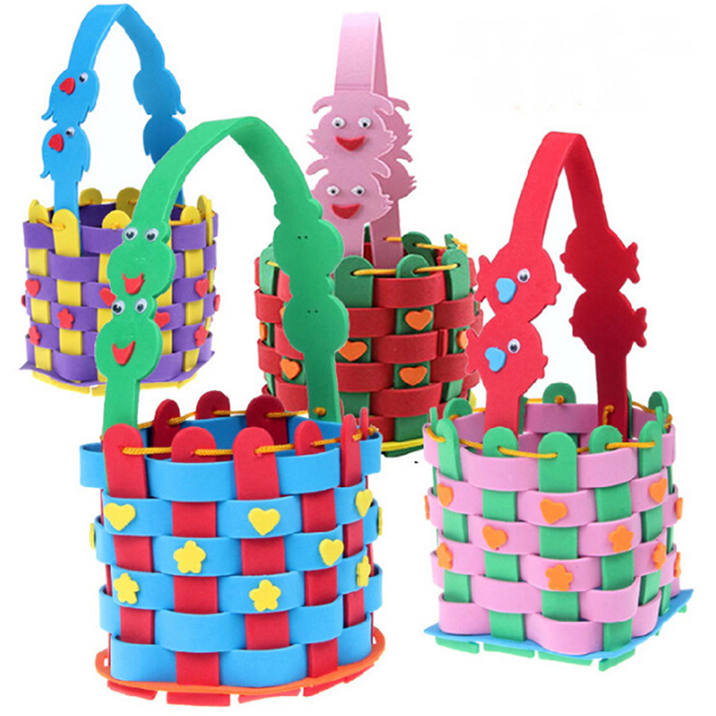 Creative EVA Knitting Woven Basket Toys Kids Children DIY Handmade Puzzle Funny Educatioanal Early Learning Kids Toys Gifts