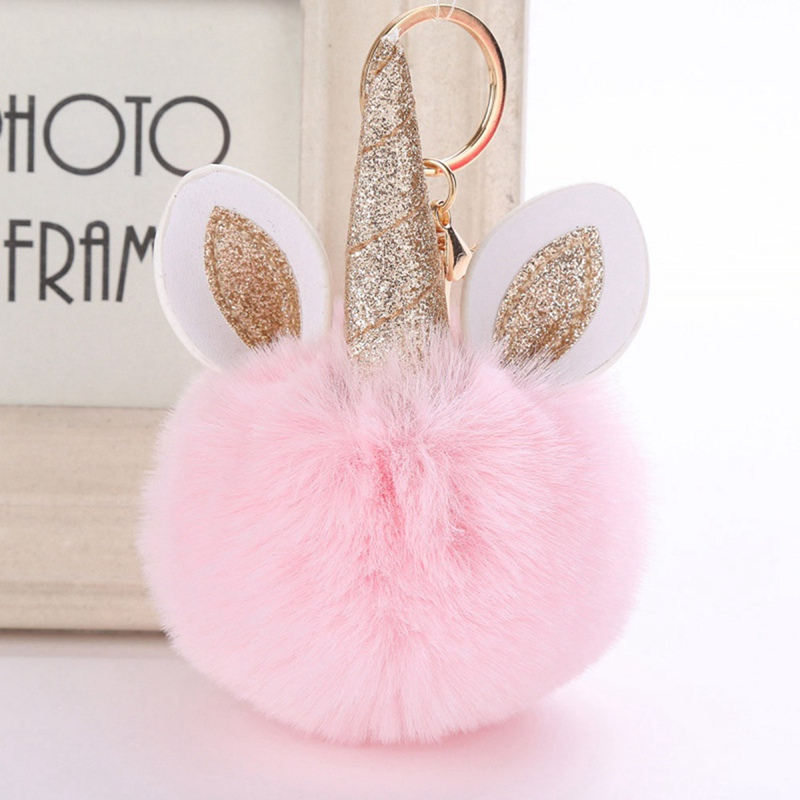 2019 Pelz Plüsch Schlüsselanhänger Gefälschte Kaninchen Fell Ball Spielzeug Einhorn Plüsch Spielzeug Seien Sie In Geldangelegenheiten Schlau