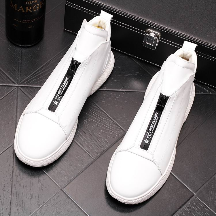 ERRFC Luxury Men's Gold Leisure Shoes Fashion Designer High Top Zip Man Casual Comfort Shoes For Show White Vogue Party Shoes 43 13
