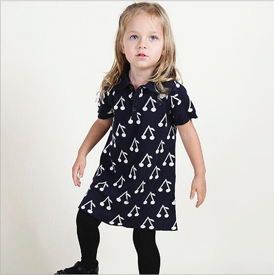 Ins hot cherry Mother Daughter Dresses Girls Family Clothing Dresses For Mother And Daughter Knitted dresses & sweaters 2016