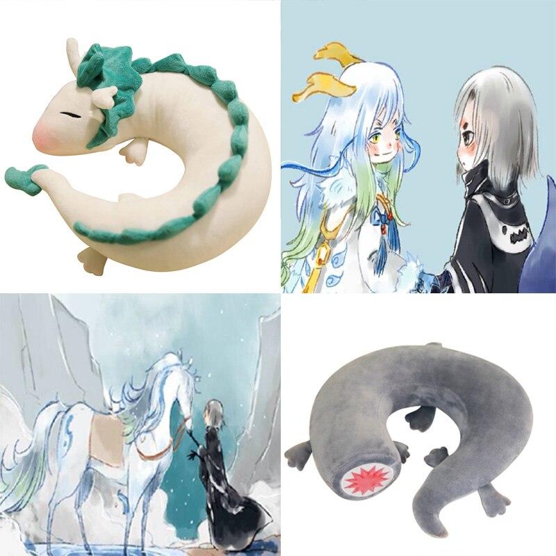 Cartoon Dragon Anime Miyazaki Hayao Spirited Away Haku Cute U Shape Doll Plush Toy Pillow doll gift