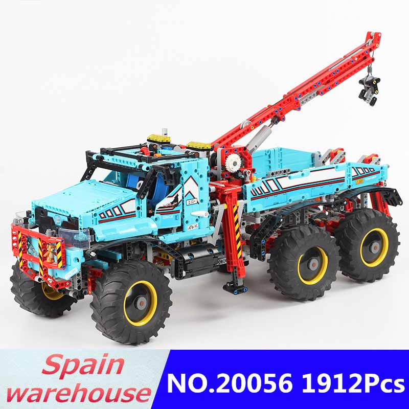 20056 Engineering Crane The Ultimate All Terrain 6X6 Remote Control Truck Building Blocks Technic Truck 42070
