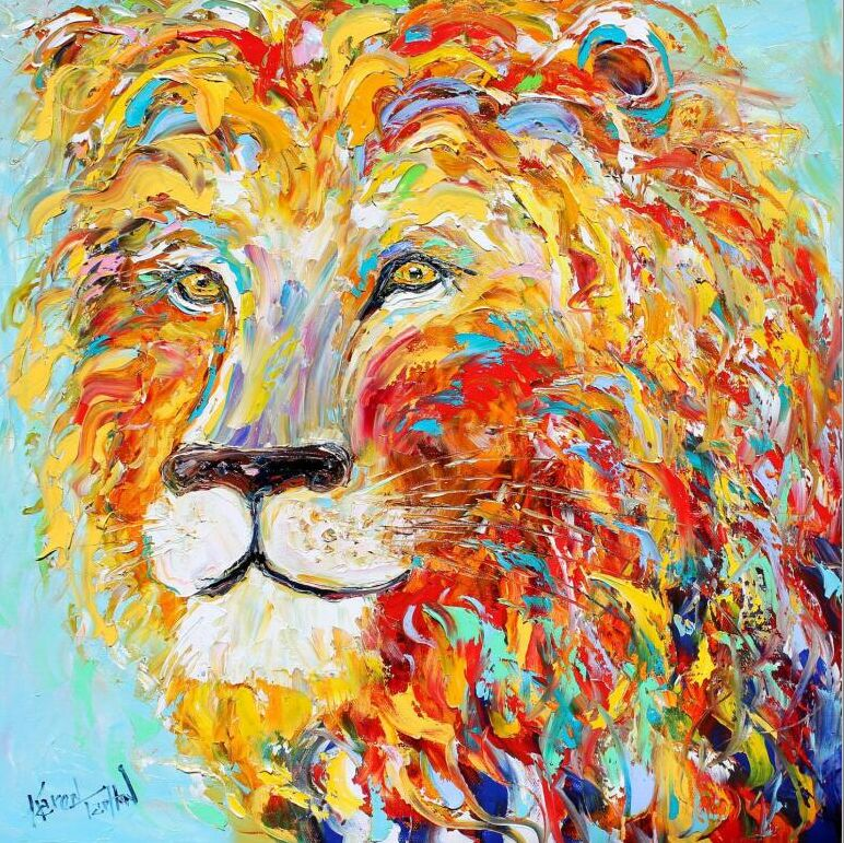 Lion coloré le puzzle en bois 1000 pièces ersion puzzle carte blanche adulte jouets éducatifs pour enfants